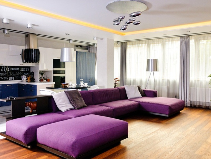 Modern Purple Sofa Design For Minimalist Home