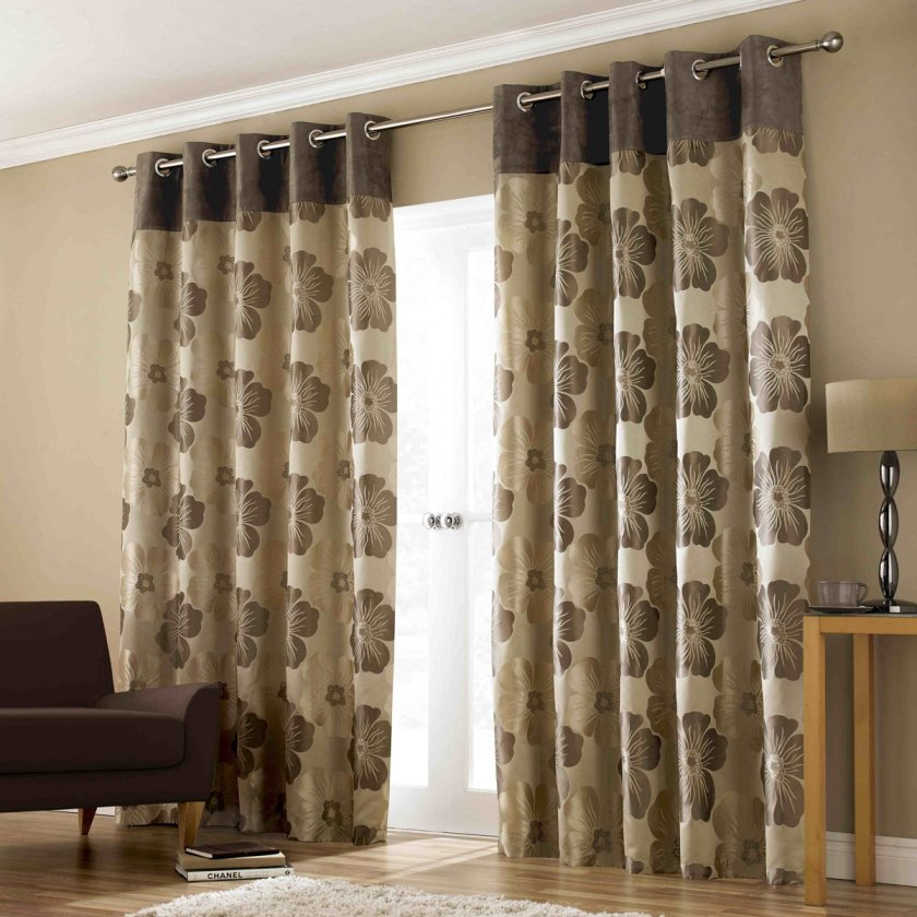 Modern Window Curtain With Flower Design