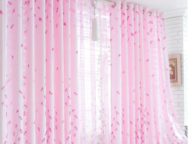 Pink Curtain Design For Home Windows