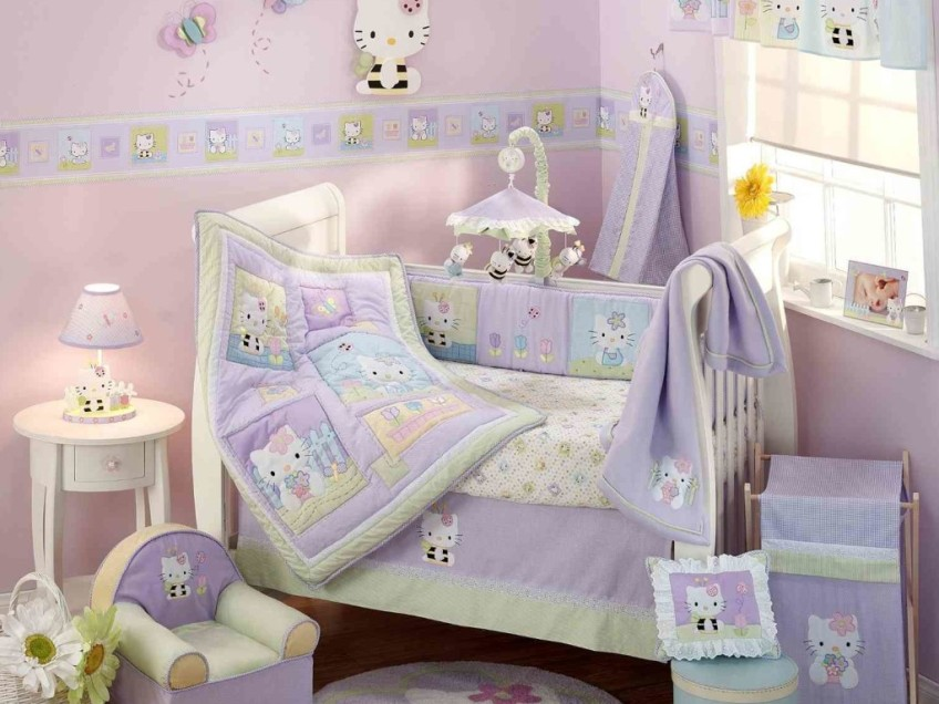 Pretty Baby Bedroom Interior Decoration Model