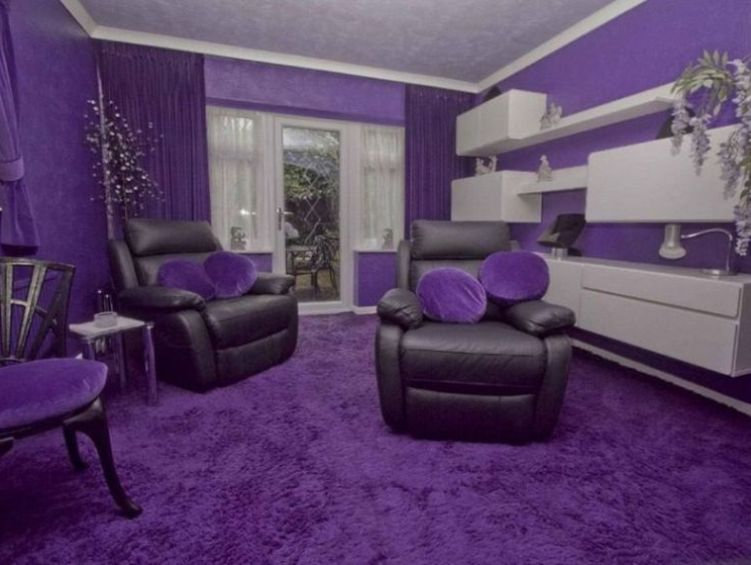 Marvelous Purple Color Idea For Small Living Room Part 14