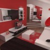 Red And Black Furniture For Home Interior
