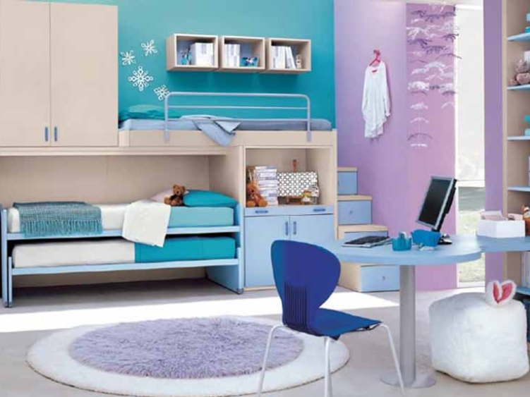 Simple And Beautiful Girls Bedroom Layout