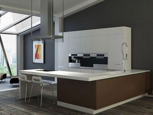 Simple Brown Furniture Design For Kitchen Interior