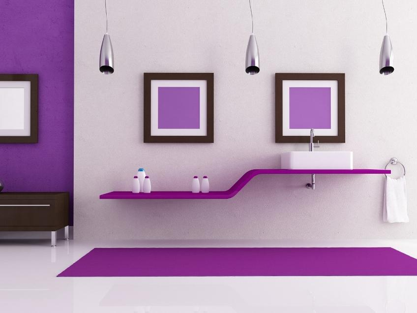 Simple Purple And White Interior Design