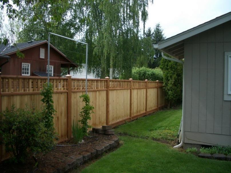 Simple Wooden Fence Design For Small House
