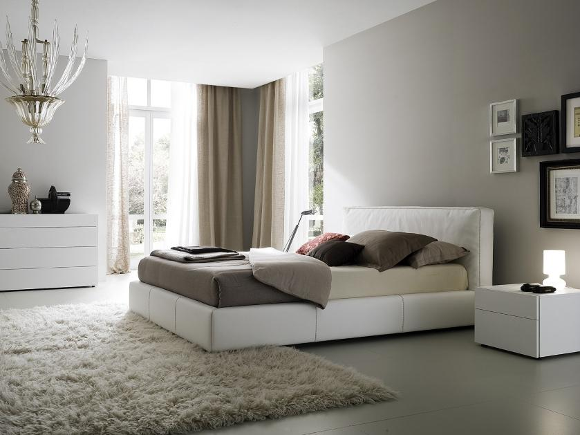 White Bedroom Idea For Minimalist House