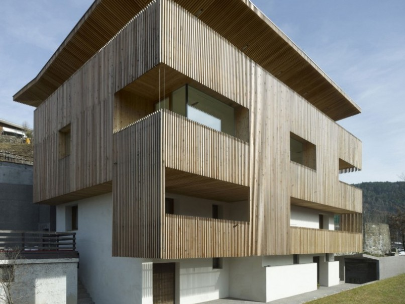 Wooden House Design With Multiple Floor