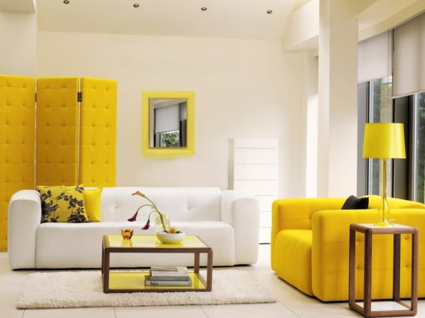 Yellow Furniture Design For Modern House