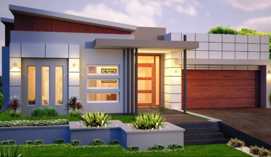 Front Layout For Minimalist 1 Floor Home - 4 Home Ideas