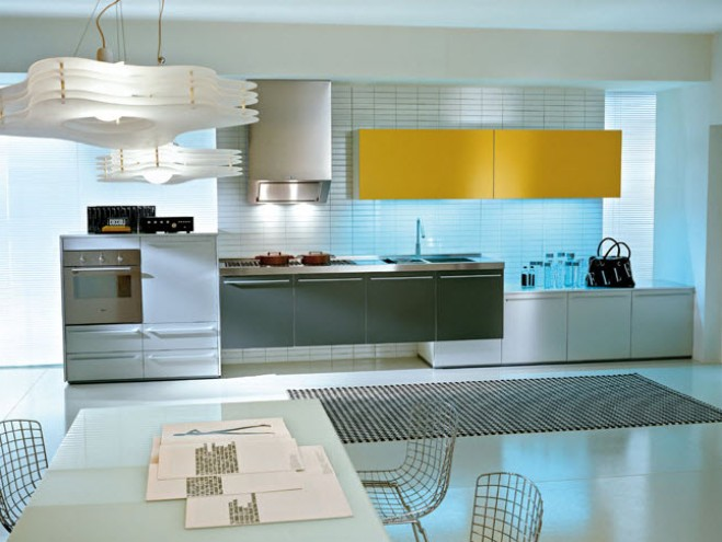 Minimalist kitchen layout design inspiration 4 home ideas for Minimalist design inspiration