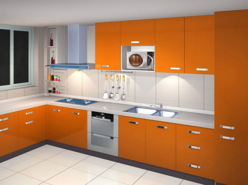 Orange Paint To Make Kitchen Look Nice