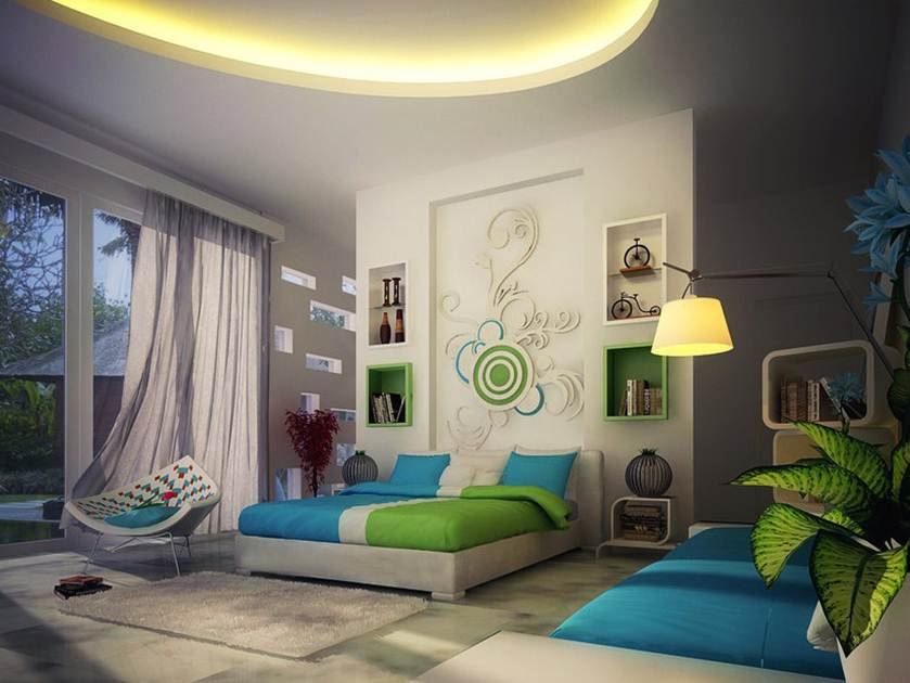 Blue and Green Home Interior Paint