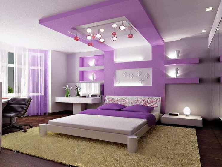 Bright Color Idea For Bedroom Interior