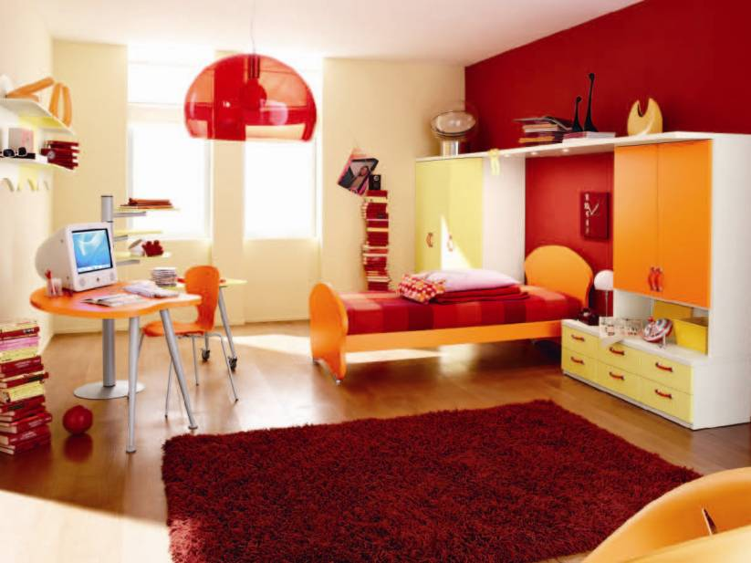 Colorful Teen Bedroom Interior Theme