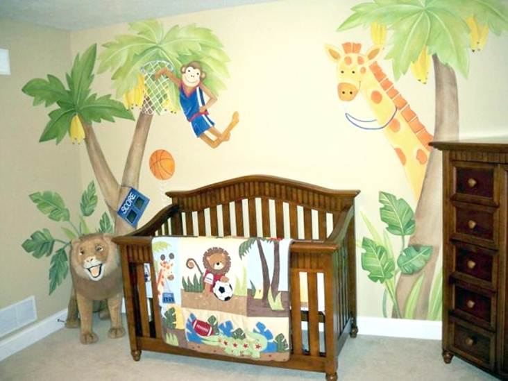 ... Cute Animal Theme For Babyu0027s Bedroom ...