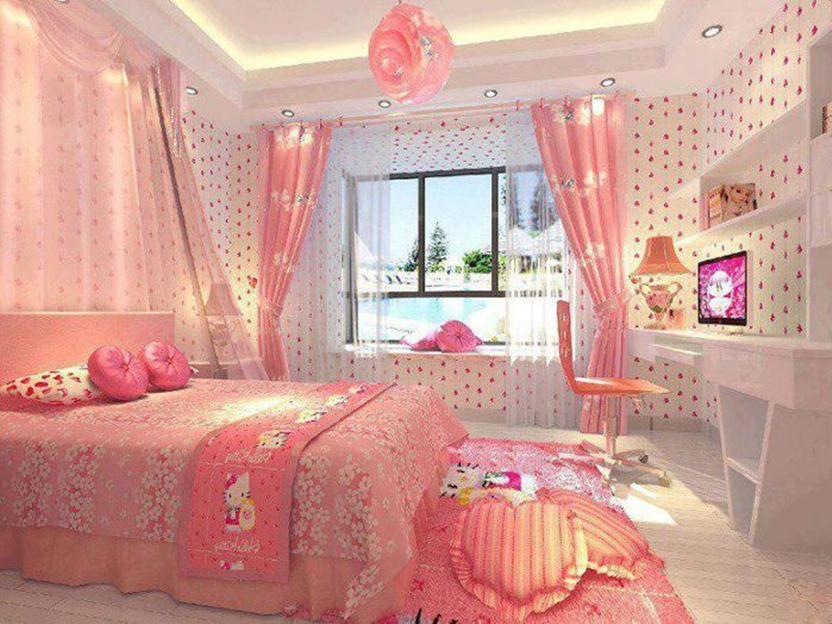 Decor Idea For Hello Kitty Bedroom