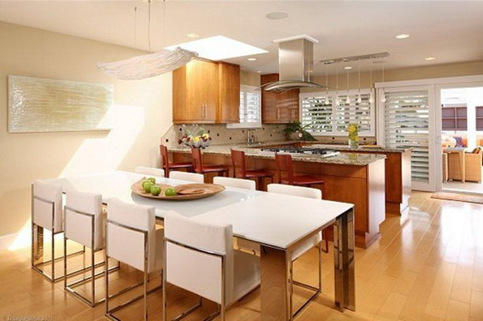 Elegant Interior For Kitchen And Dining Room