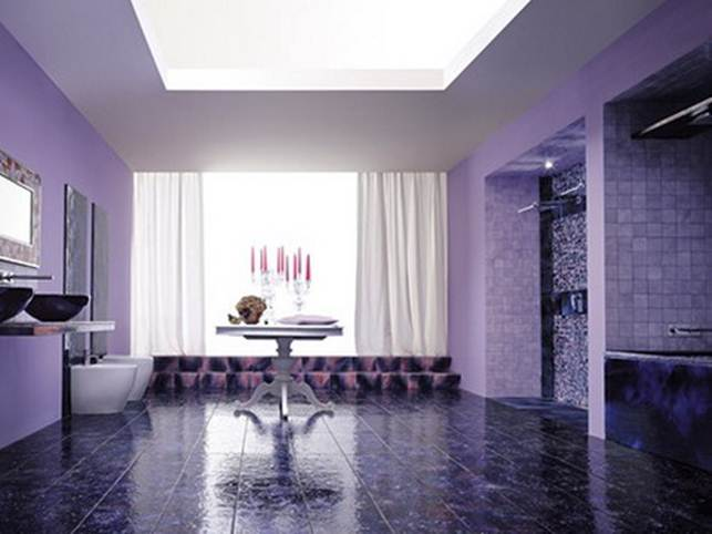 Elegant Purple Paint For Beautiful Home Interior