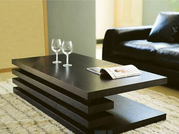 Minimalist table for modern living room 4 home ideas for Table for living room ideas
