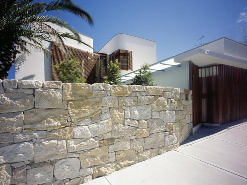 How To Build Fence From Natural Stone