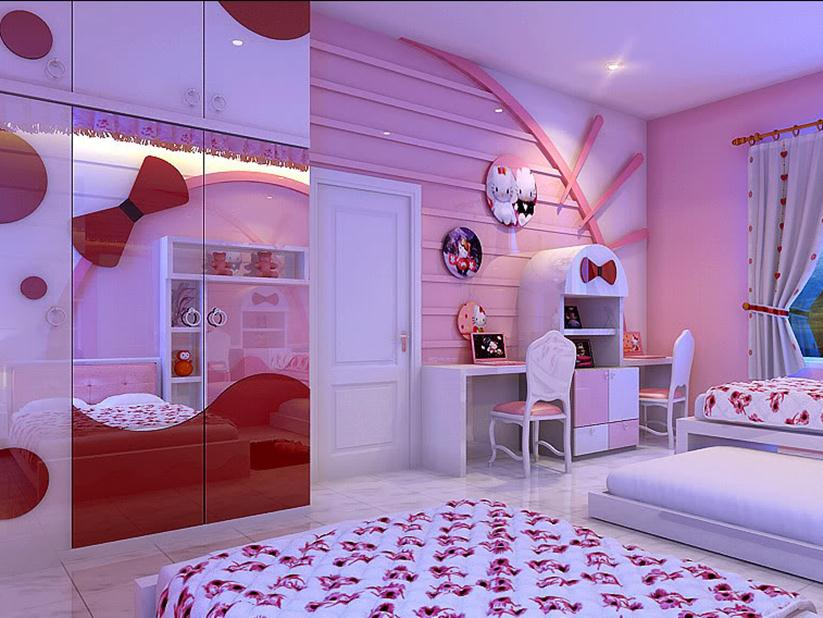 How To Make Beautiful Hello Kitty Bedroom