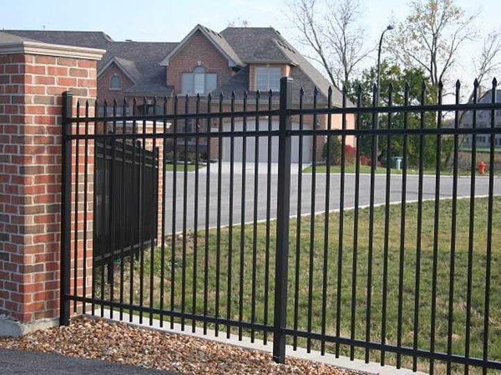 Iron Fence Design With Black Color