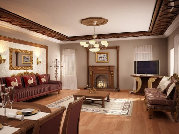 Living Room With Classic Style