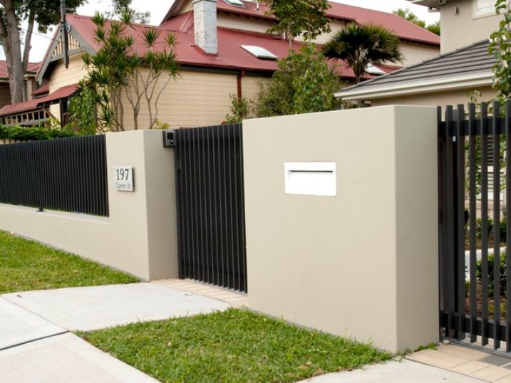Merveilleux Minimalist Home Fence Photo Gallery