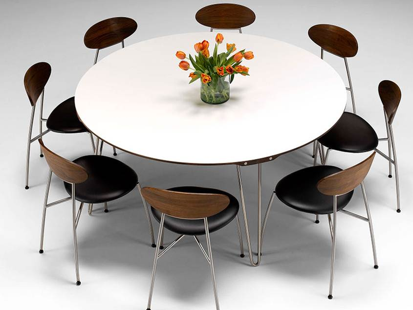 Minimalist Modern Round Dining Table Model