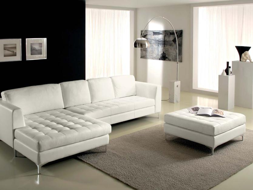 Minimalist White Sofa Design For Living Room