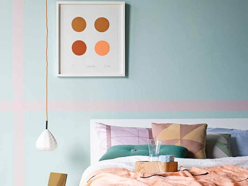 Mint And Salmon Combination For Bedroom Interior