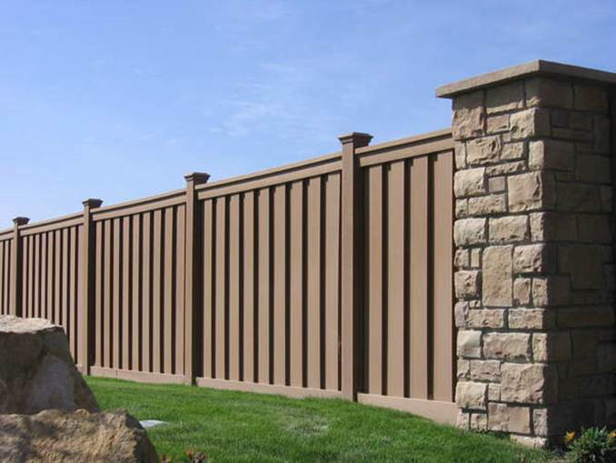 Mixture Materials Idea For Home Fence