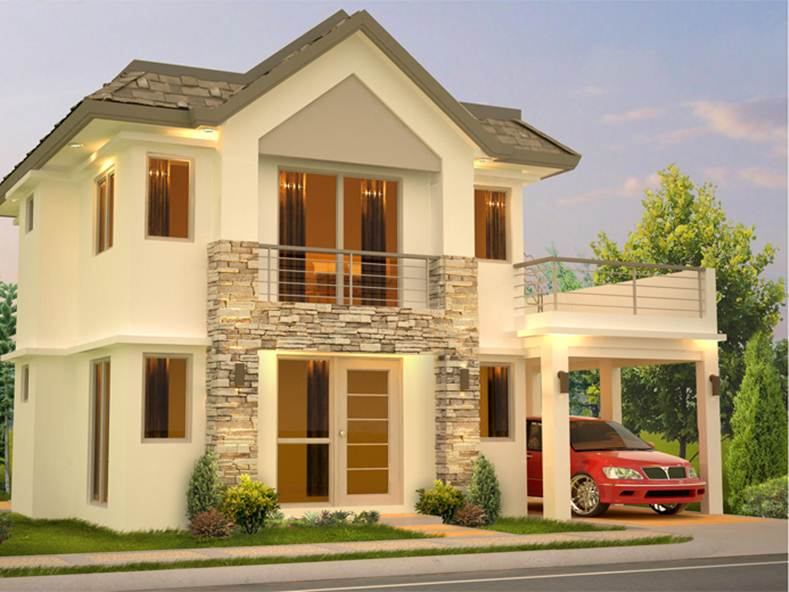 Small 2 story modern house plans for 2 storey small house design