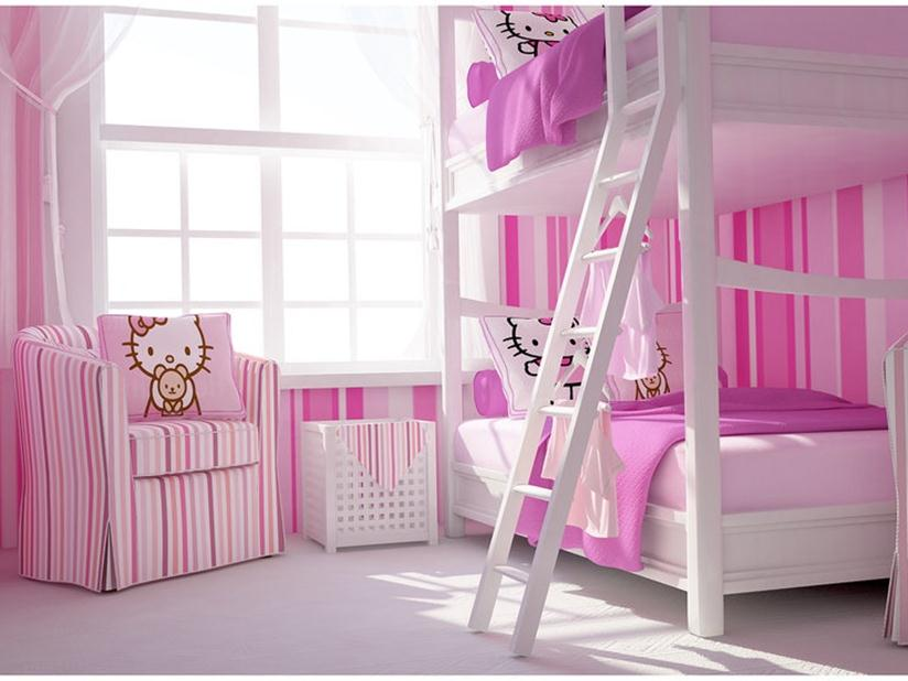 Modern Hello Kitty Bedroom For Girl