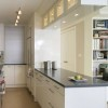 Modern Narrow Kitchen Decorating Idea