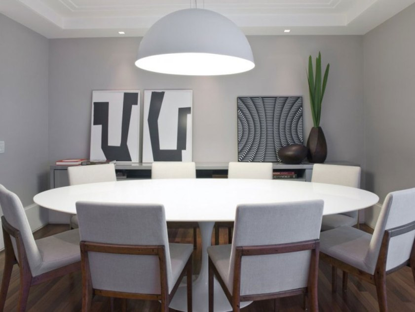 Modern Round Dining Table Design Idea