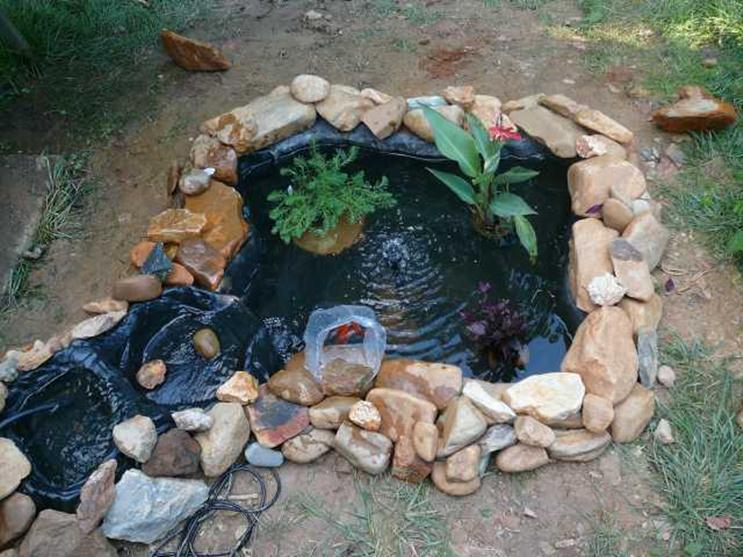 Natural Stone Ideas For Fish Pond