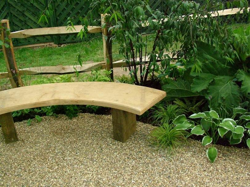 Nature Garden Nuance With Wooden Chair