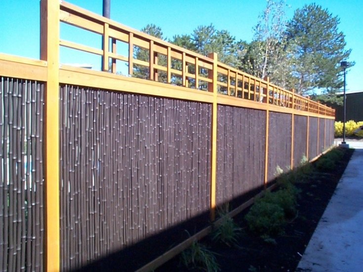 Nice Bamboo Fence Design For Modern Home