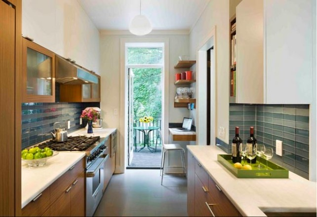 Nice Decorationg Idea For Narrow Kitchen
