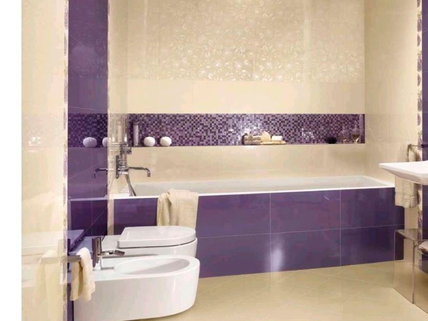 Nice Tile Design For Bathroom Interior