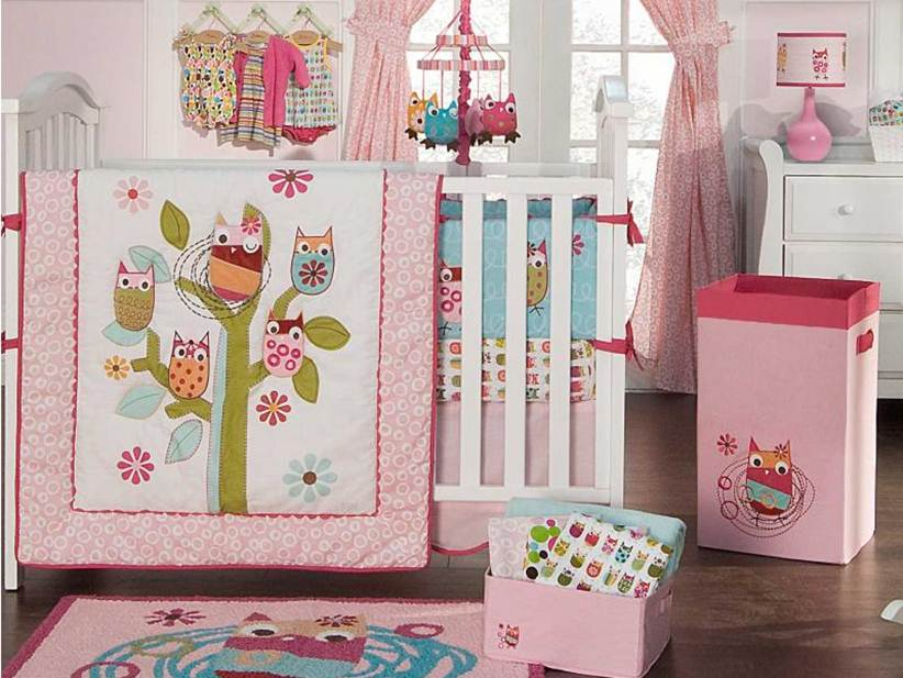 Pink Bed Color For Baby Bed Model