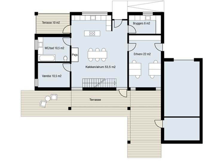Modern minimalist house plan gallery 4 home ideas for Simple minimalist house
