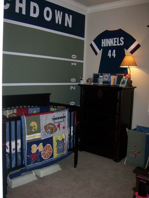 sport theme idea for babys room decor - Boys Room Ideas Sports Theme