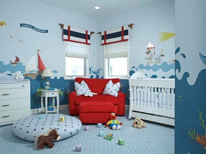 Water Baby's Room Interior Design Idea
