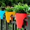 Attractive House Fence Decorating Idea