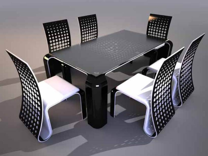 Black White Dining Chair Color Combination