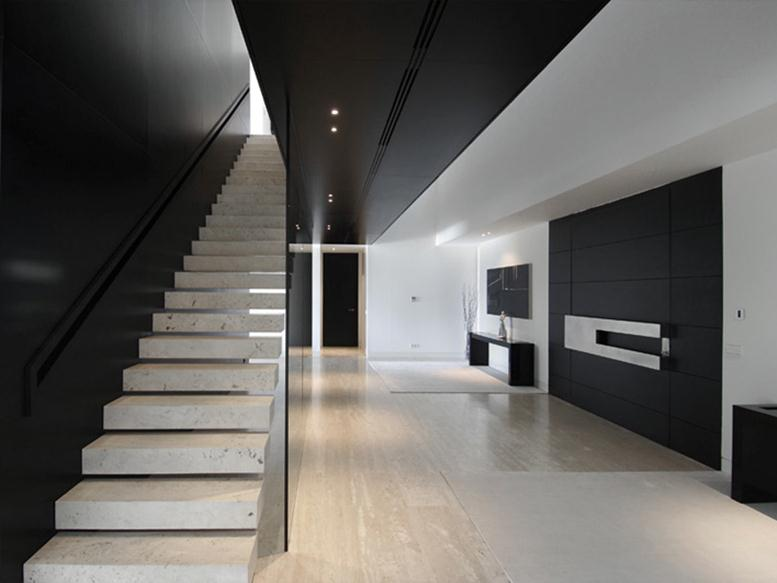 Black White Interior For Luxury House