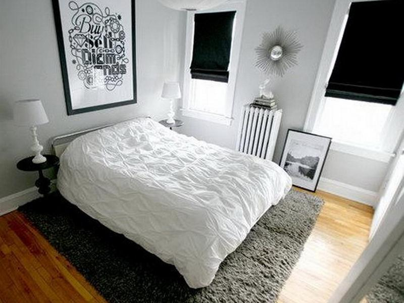 Black White Small Bedroom Design Idea